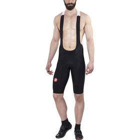 Castelli Omloop Thermal Bib Shorts Herr black/red reflex